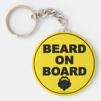 Beard on Board Keychain