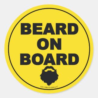 Beard on Board Sticker