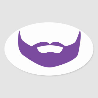 Beard Oval Sticker