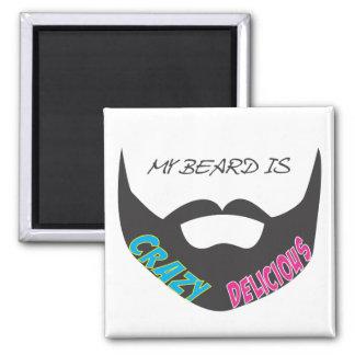 Beard Pride 2 Inch Square Magnet