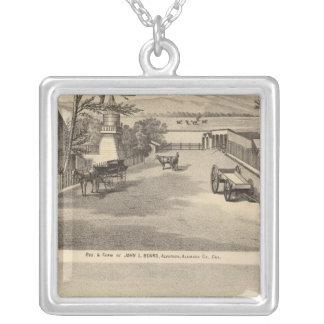 Beard res, Alvarado Salt Works Silver Plated Necklace