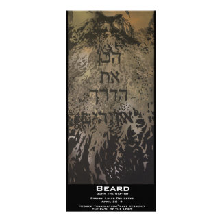 """Beard"" Value Bookmark Rack Card"