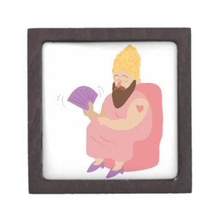 Beard Woman Premium Jewelry Boxes