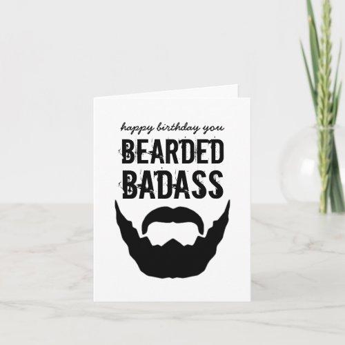 Bearded Bada Birthday Card