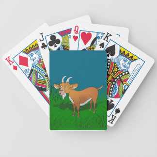 Bearded brown goat bicycle playing cards