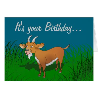 happy birthday you bearded badass bestselling card – Goat Birthday Card