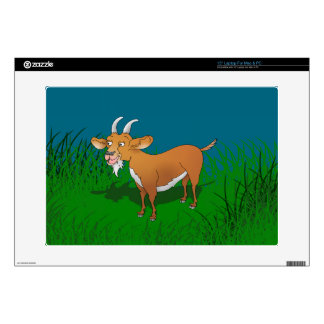 "Bearded brown goat decal for 15"" laptop"