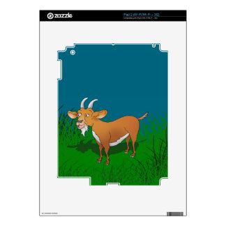 Bearded brown goat skins for iPad 2