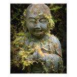 "Bearded Buddha Statue Garden Nature Photography 4.5"" X 5.6"" Flyer"
