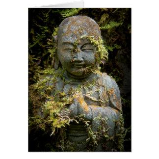 Bearded Buddha Statue Garden Nature Photography Greeting Card