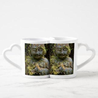 Bearded Buddha Statue Garden Nature Photography Coffee Mug Set