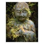 Bearded Buddha Statue Garden Nature Photography Flyers