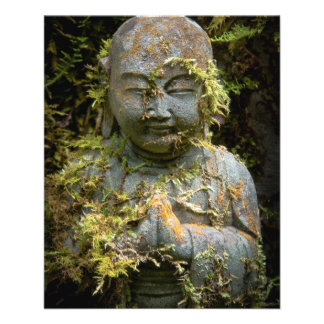 Bearded Buddha Statue Garden Nature Photography Flyer