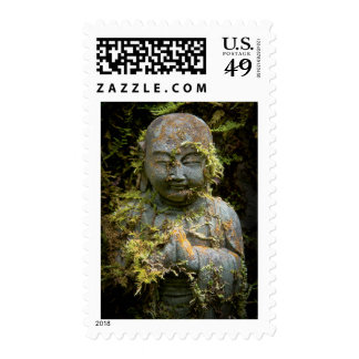 Bearded Buddha Statue Garden Nature Photography Stamp