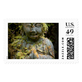 Bearded Buddha Statue Garden Nature Photography Postage