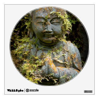 Bearded Buddha Statue Garden Nature Photography Wall Decal