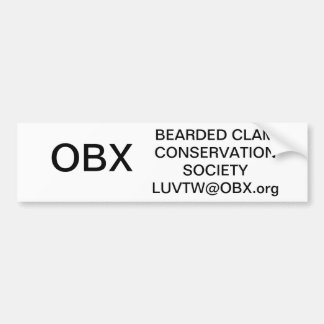 bearded clam conservation car bumper sticker