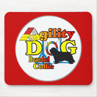 Bearded Collie Agility Gifts Mouse Pad