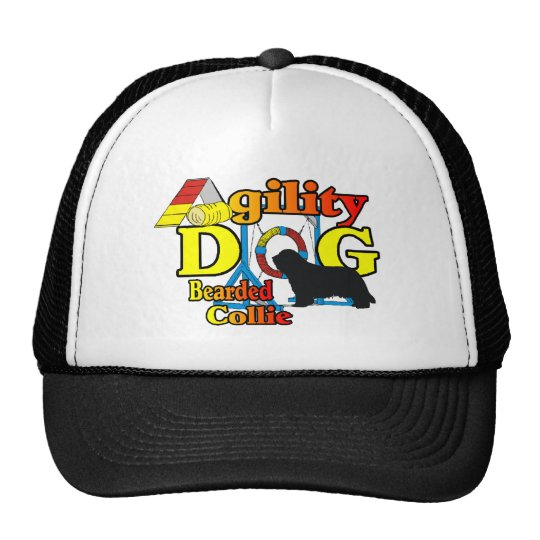 Bearded Collie Agility Gifts Trucker Hat