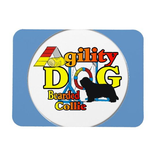 bearded collie agility magnet