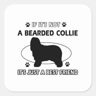 BEARDED COLLIE best friend designs Sticker