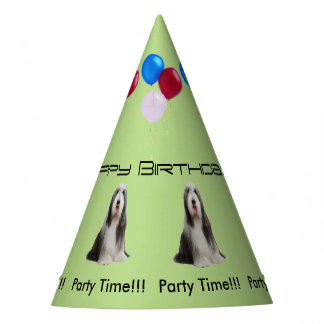 Bearded Collie Birthday Party Hat