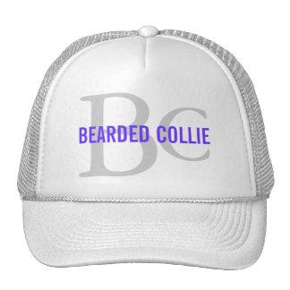 Bearded Collie Breed Monogram Design Trucker Hat