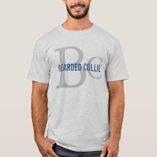 Bearded Collie Breed Monogram Design T-Shirt
