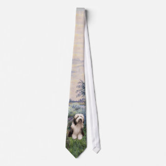 Bearded Collie - By the Seine Tie