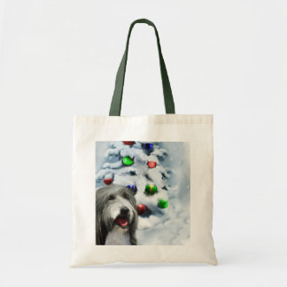Bearded Collie Christmas Gifts Tote Bag