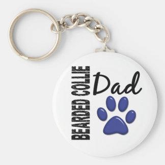 Bearded Collie Dad 2 Keychain