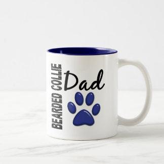 Bearded Collie Dad 2 Two-Tone Coffee Mug