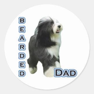 Bearded Collie Dad 4 - Sticker Round Sticker