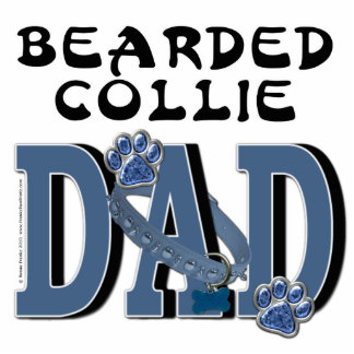 Bearded Collie DAD Photo Cut Outs