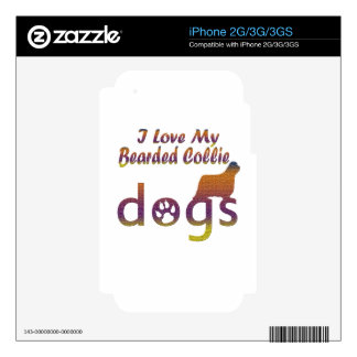 Bearded Collie designs iPhone 2G Decals