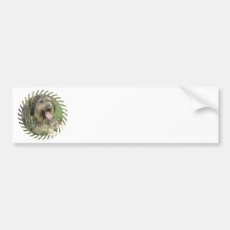 Bearded Collie Dog Bumper Sticker Car Bumper Sticker