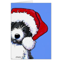 Bearded Collie Dog Christmas Cards