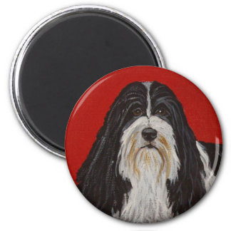 BEARDED COLLIE DOG MAGNET