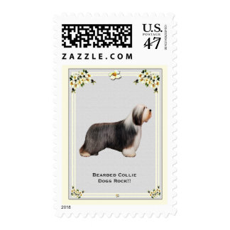 Bearded Collie Dogs Rock!! USA Postage Stamp