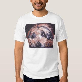bearded collie fine art painting t-shirt
