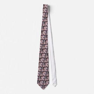 bearded collie fine art painting tie