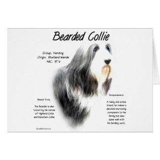 Bearded Collie History Design Card