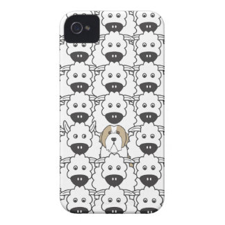 Bearded Collie in the Sheep iPhone 4 Covers