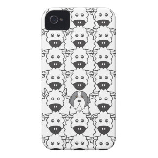 Bearded Collie in the Sheep Case-Mate iPhone 4 Case
