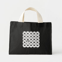 Bearded Collie in the Sheep Mini Tote Bag