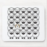 Bearded Collie in the Sheep Mouse Mat