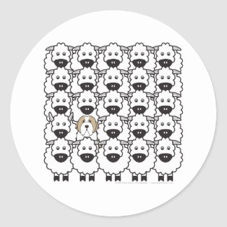 Bearded Collie in the Sheep Stickers