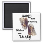 Bearded Collie Lovers Dishwasher Magnet