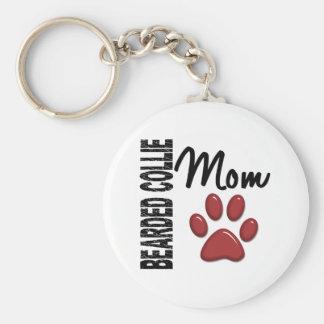Bearded Collie Mom 2 Keychain