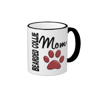Bearded Collie Mom 2 Ringer Coffee Mug